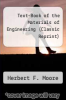cover of Text-Book of the Materials of Engineering (Classic Reprint)