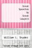 cover of Great Speeches by Great Lawyers