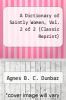 cover of A Dictionary of Saintly Women, Vol. 2 of 2 (Classic Reprint)