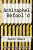 cover of Achitophel Befool`d