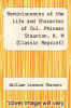 cover of Reminiscences of the Life and Character of Col. Phineas Staunton, A. M (Classic Reprint)