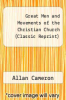 cover of Great Men and Movements of the Christian Church (Classic Reprint)