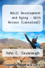 cover of Adult Development and Aging - With Access (LooseLeaf) (7th edition)