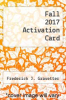 cover of Fall 2017 Activation Card-Access