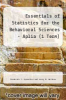 cover of Essentials of Stat. for Behavioral. -Aplia Access (9th edition)