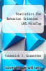 cover of Statistics for Behavior Sciences-Access (10th edition)