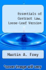 cover of Essentials of Contract Law, Loose-Leaf Version (2nd edition)