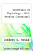cover of Essentials of Psychology - With MindTap (LooseLeaf) (5th edition)