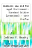 cover of Business Law and the Legal Environment: Standard Edition - With MindTap (Looseleaf) (8th edition)