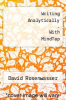 cover of Writing Analytically - With MindTap (8th edition)