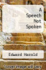 cover of A Speech Not Spoken