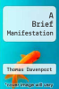 cover of A Brief Manifestation