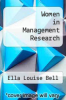 cover of Women in Management Research