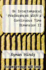 cover of On Intertemporal Preferences With a Continuous Time Dimension II