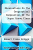 cover of Observations On The Geographical Composition Of The Sugar Grove Flora