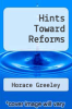 cover of Hints Toward Reforms