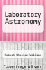 cover of Laboratory Astronomy