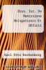 cover of Diss. Iur. De Remissione Obligationis Et Officii