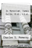cover of In Memoriam. James Eells, D.d., Ll.d.