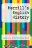 cover of Merrill`s English History