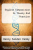 cover of English Composition In Theory And Practice