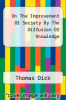cover of On The Improvement Of Society By The Diffusion Of Knowledge