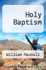 cover of Holy Baptism