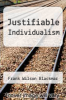 cover of Justifiable Individualism
