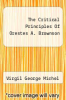 cover of The Critical Principles Of Orestes A. Brownson