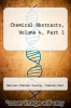 cover of Chemical Abstracts, Volume 4, Part 1