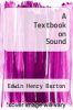 cover of A Textbook on Sound
