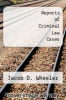 cover of Reports of Criminal Law Cases