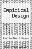cover of Empirical Design