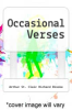 cover of Occasional Verses