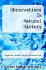 cover of Observations In Natural History
