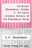 cover of Victorian Bloomsbury: Volume 1: The Early Literary History of the Bloomsbury Group