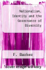 cover of Nationalism, Identity and the Governance of Diversity