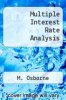 cover of Multiple Interest Rate Analysis