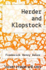 cover of Herder and Klopstock