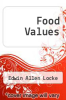 cover of Food Values