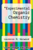 cover of Experimental Organic Chemistry (3rd edition)