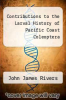 cover of Contributions to the Larval History of Pacific Coast Coleoptera
