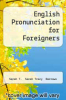 cover of English Pronunciation for Foreigners
