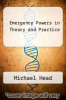 cover of Emergency Powers in Theory and Practice