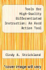 cover of Tools for High-Quality Differentiated Instruction : An Ascd Action Tool