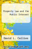 cover of Property Law and the Public Interest