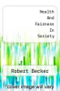 cover of Health And Fairness In Society