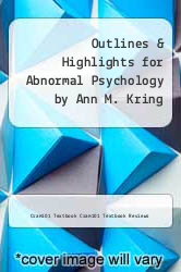 Cover of Outlines & Highlights for Abnormal Psychology by Ann M. Kring EDITIONDESC (ISBN 978-1428861442)