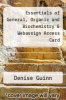 cover of Essentials of General, Organic and Biochemistry & Webassign Access Card