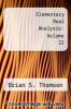 cover of Elementary Real Analysis: Second Edition (2008) [Part Two]